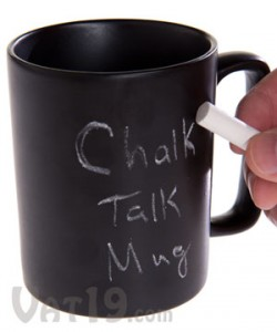 chalk talk mug 250x300 Chalkboard Coffee Mug