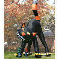 inflatable blank cat Two Story Inflatable Black Cat
